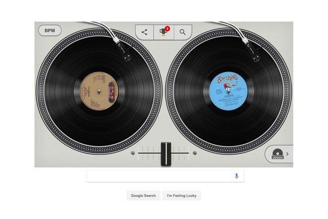 Página inicial do Google ensina você discotecar como DJ