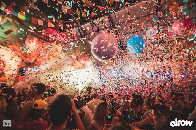 Curta Richy Ahmed ao vivo na festa elrow em Londres