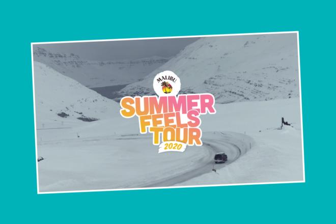 Curtimos a diversão do verão no selvagem inverno da Summer Feels Tour da Malibu